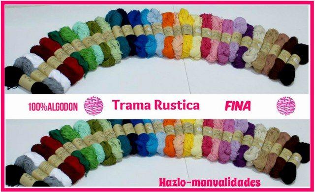 ¡La Trama Rústica está de moda! Es 100% algodón y cualquier trabajo que diseñéis quedará maravilloso. ¿Por cuál color os decantáis? http://www.hazlo-manualidades.com/index.php?option=com_virtuemart&view=productdetails&virtuemart_product_id=17703&virtuemart_category_id=1626