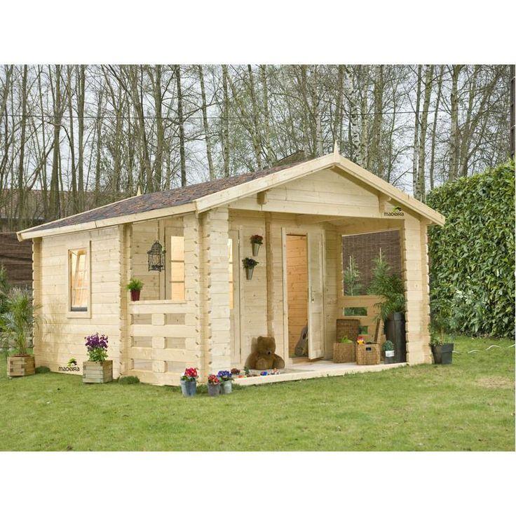 Budget maison bois abri cloisonn 215m madriers 43mm for Budget maison bois