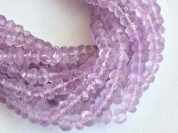 Pink Amethyst Beads Natural Pink Amethyst Faceted by gemsforjewels