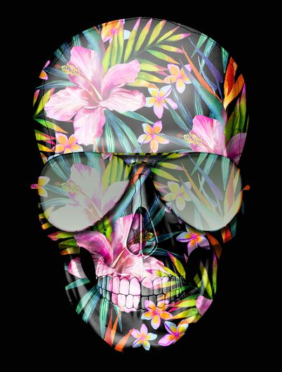 HAWAII SKULL FLOWERS