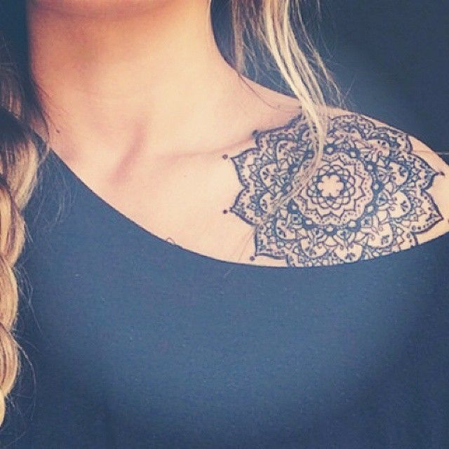 indiandreamss - shoulder henna tattoo
