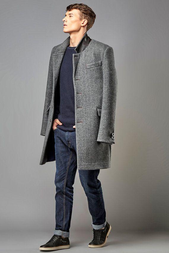 Man Coat / Classic Jacket Style Coat / Tailored Coat / Italian Wool Classic Coat / Tweed Overcoat/ Tailored Jacket / Men's Tweed Jacket.