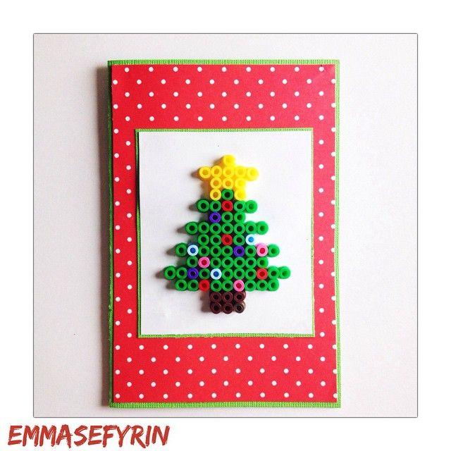 Christmas card hama perler beads by emsefyr