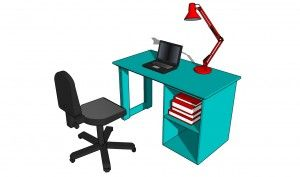 How to build a small desk | HowToSpecialist - How to Build, Step by Step DIY Plans