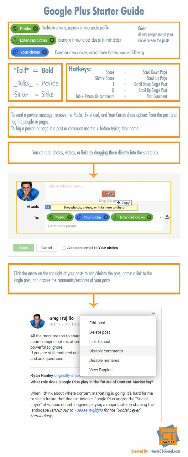 Not on #GooglePlus this is a good Google Plus Starter guide for you to understand the #SocialMedia awesomeness!