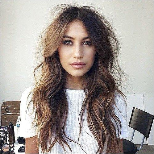 messy wavy hairstyle for long hair  #FineHaircutStyles Click for further information