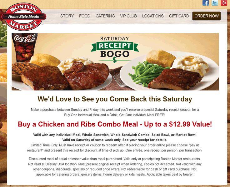 Boston market coupons groupon
