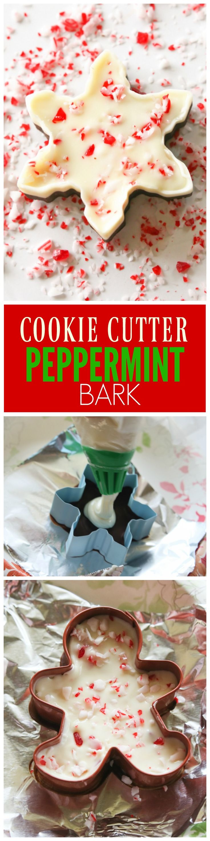 Cookie Cutter Peppermint Bark - the-girl-who-ate-everything.com