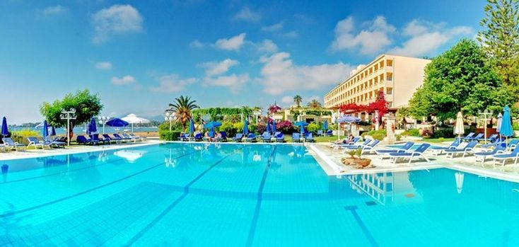 #Corfu is a hot #vacation locale in #Greece. For a hotel 5 minutes from popular tourist spots check out Corfu Palace