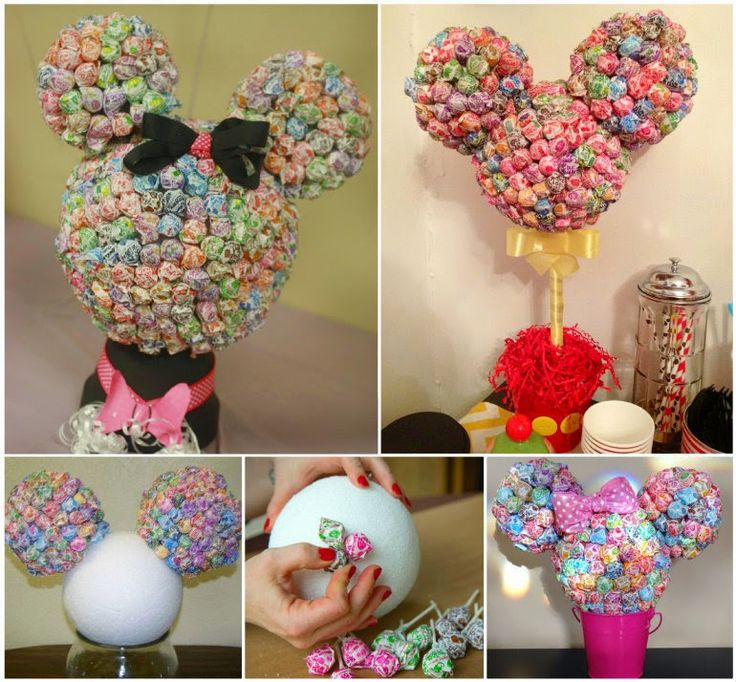 Ideas & Products: Minnie Mouse Lollipop Tree