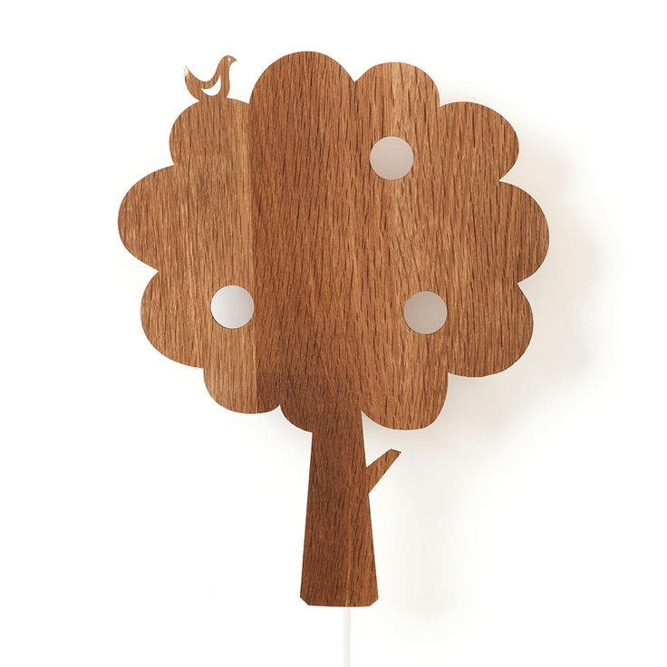 Tree+Vegglampe,+Røkt+Eik,+Ferm+Living