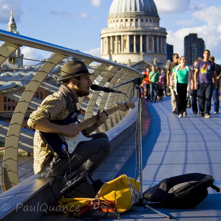 Busking Bridge | Paul Quance's London Visit