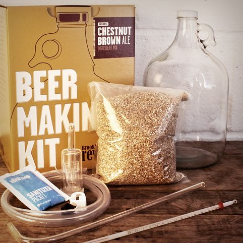 Brooklyn brew shop beer making kits. You even get to pick the brew type. Cool.