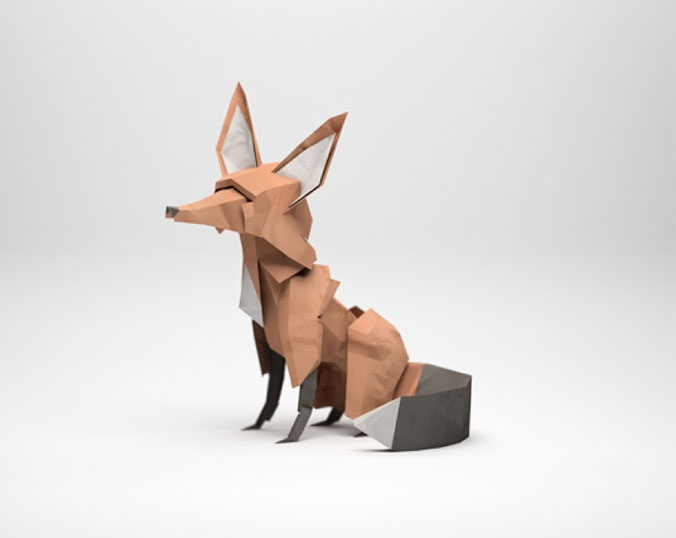 Paper Mache Fox: Courtesy of clay-mation
