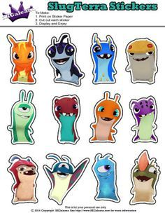 Printable slugterra Stickers ~ Free Slugterra Party Printables, and Crafts…