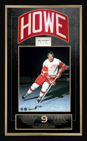 Gordie Howe Career Collectible - Museum Framed - Ltd Ed of 99 | Autograph Authentic