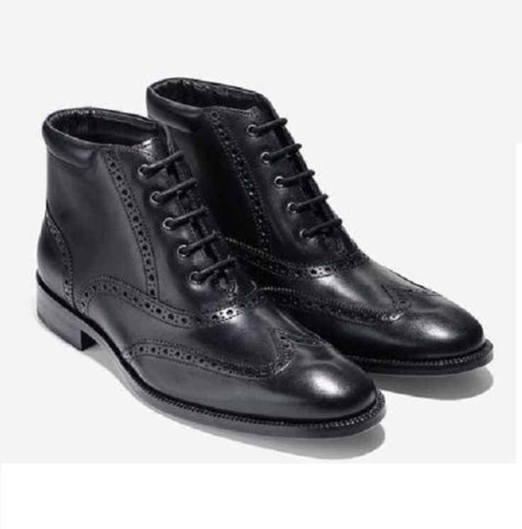 #shoes boots footwear sneakers Cole Haan Men Size 9M leather boots Williams WNG CHK II Black  NIB ColeHaan withing our EBAY store at  http://stores.ebay.com/esquirestore