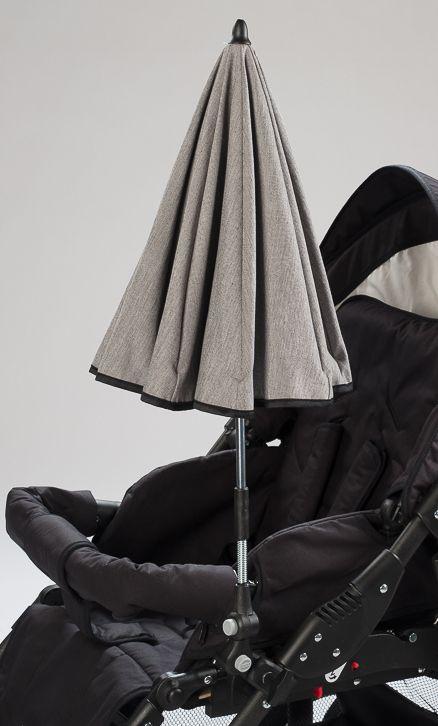 Naturkind Sonnenschirm siebenschläfer in uni grau. Passt an alle gängigen Kinderwagengestelle. Aus reiner Bio-Baumwolle mit UV-Schutz. Dank der 2 Gelenke und der Spirale ist der Sonnenschirm perfekt einstellbar.