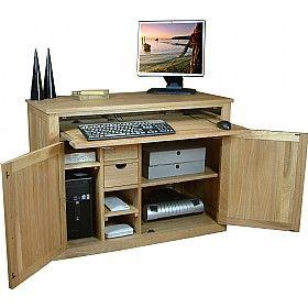 Cavalli Solid Oak Computer Desk Hideaway £482 - Computer Desks