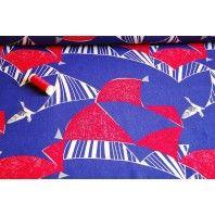 Flag - Blue -  Echino Cotton Linen by Etsuko Furuya