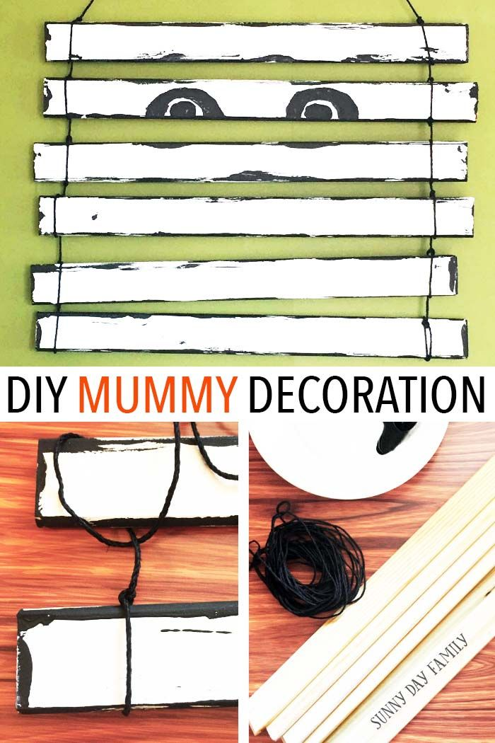 adorable diy mummy door decoration craft