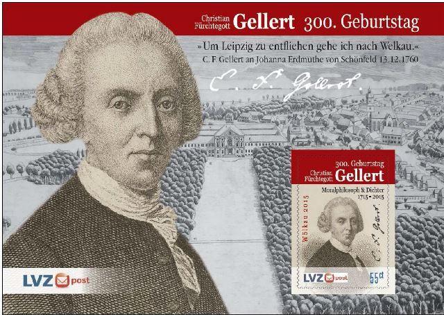 Christian-Fürchtegott-Gellert-Briefmarkenblock