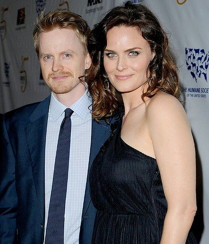 Emily Deschanel and husband David Hornsby.
