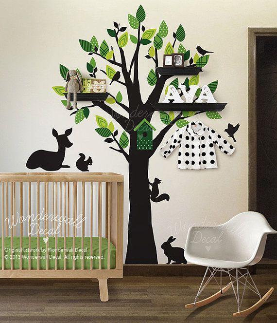 Kinderzimmer wandgestaltung baum selber malen  Die besten 25+ Baum wandtattoo Ideen auf Pinterest | Baum ...