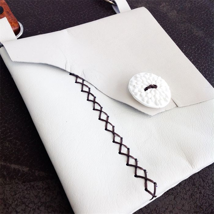Soft Leather bag made from re-purposed materials - made from someone else's discarded leather