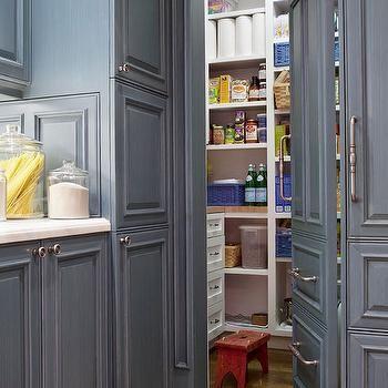 Hidden Pantry, Transitional, kitchen, BHG