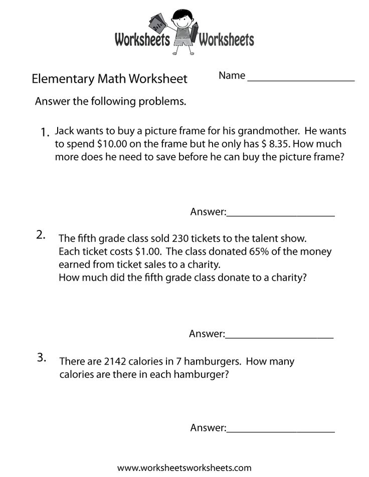 Printables Free Math Worksheets For 5th Grade Word Problems first grade math word problems free scalien scalien