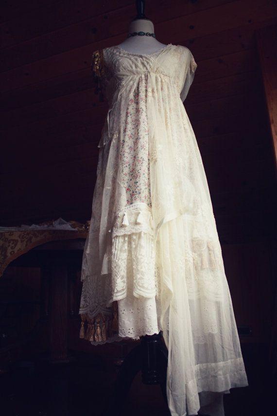 Roma Kleid-Zigeuner Hochzeit Kleid-Boho von HuckleberryDrapery