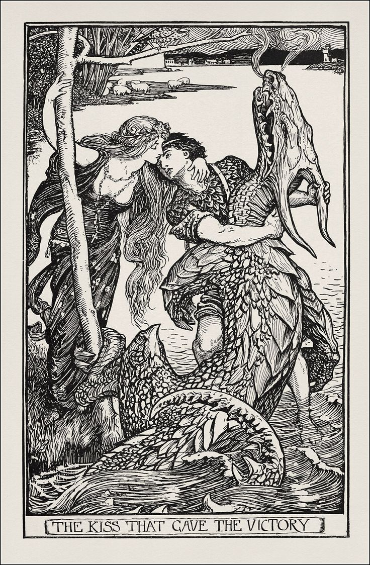 The Crimson Fairy Book, Illustration By Henry Justice Ford  (later  Interpretations Of Gothic