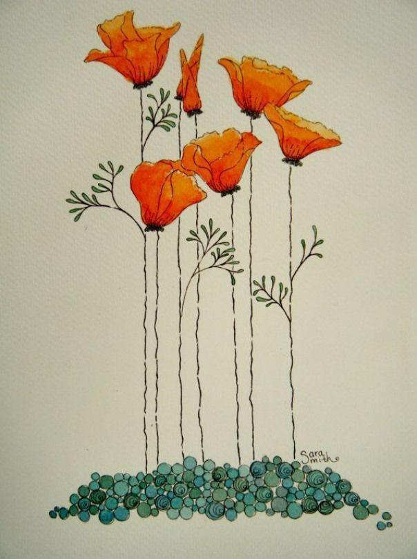 california poppy painting - Google Search #nevada #nevada ...