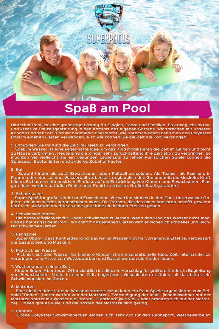 Spaß am Pool