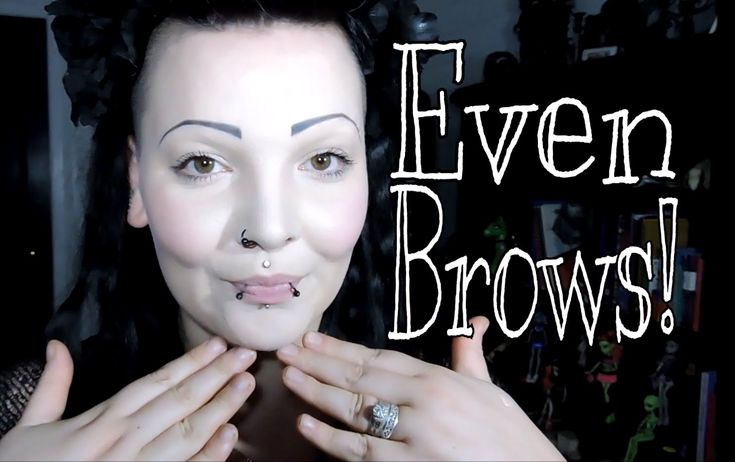 How To Get Even Eyebrows! Goth Edition For Shaved Brows ...