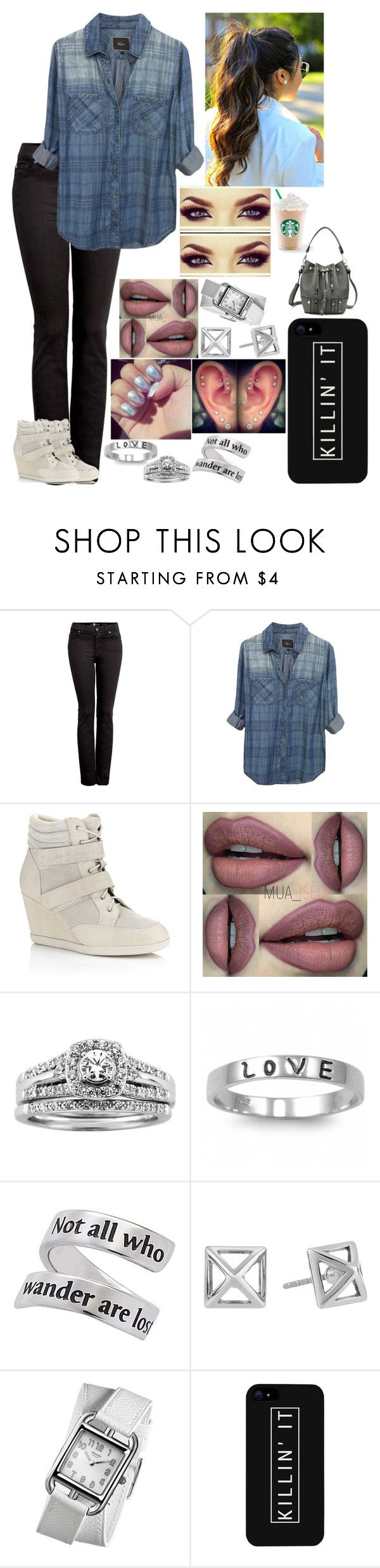 """""""Untitled #2996 - Outfit of the Day - 11/12/16"""" by nicolerunnels ❤ liked on Polyvore featuring 7 For All Mankind, Rails, Carvela Kurt Geiger, A.Jaffe, Fantasy Jewelry Box, Rebecca Minkoff, J.A.K., Hermès and LG"""