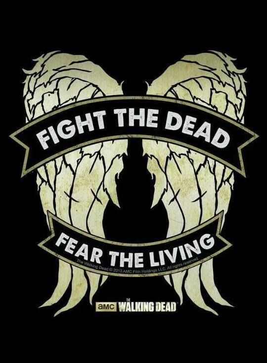 Fight the dead. Fear the living. #TWD - now, I know what to do once I finally find the perf denim vest!