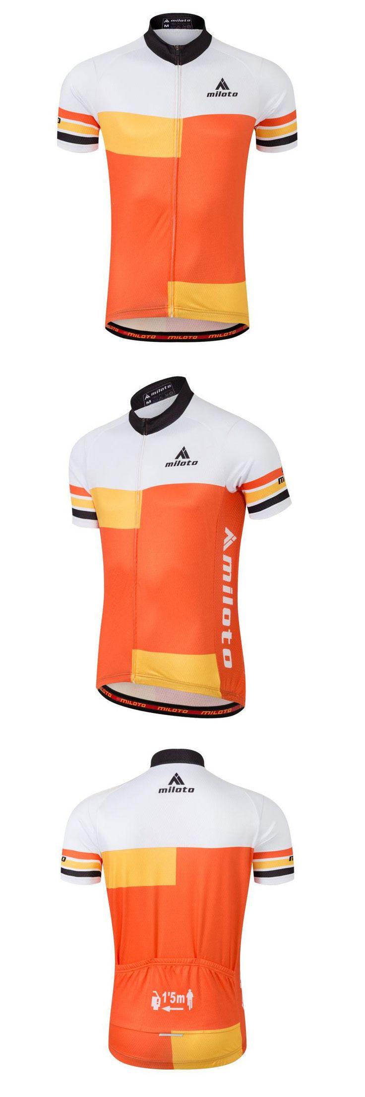 [Visit to Buy] Plus Size 4XL 5XL Cycling Jerseys Short Sleeve Men Bike Bicycle Shirts / T-shirts Cycle Jacket Reflective Orange Antislip #Advertisement
