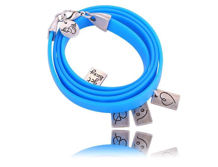 my favourite blue bracelet By Dziubeka