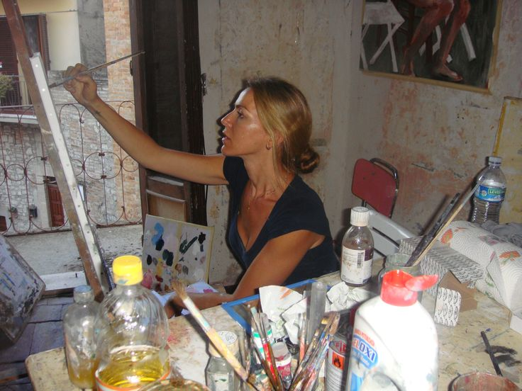 stella kapezanou, artist, στελλα καπεζανου, international school of drawing, painting and sculpture in Umbria, Italy, isa
