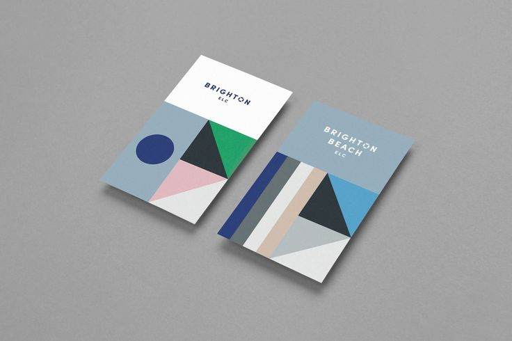 Visual identity and business cards designed by Studio Brave for Brighton & Brighton Beach early learning centres.