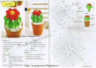Amigurumi DIY by AngieGurumi: Amigurumi, Cáctus diagramas Thai, Free. ñ_ñ