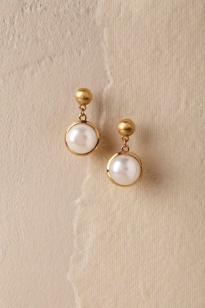 Gold Otto Pearl Earrings | BHLDN