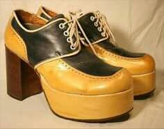 Men's platform shoes from the 70's