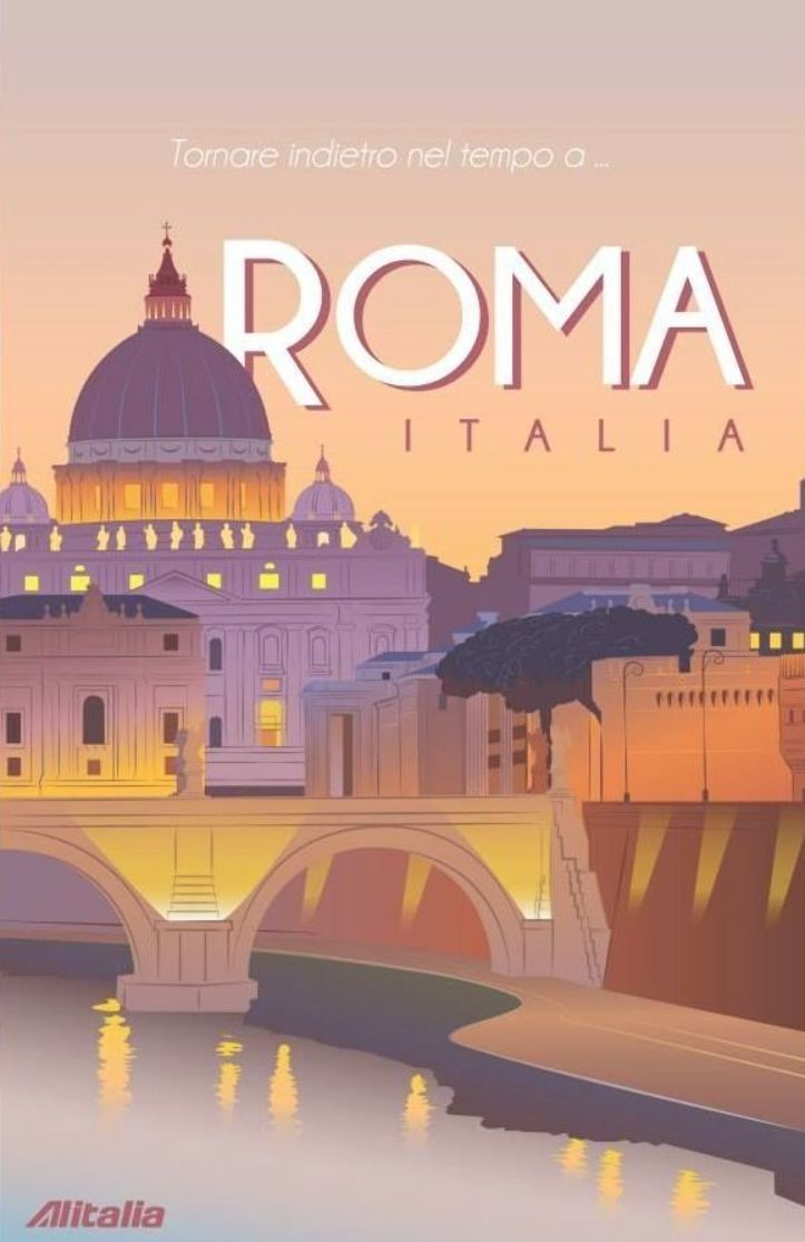 Vintage Travel Poster Roma Italia Italia Poster Roma Travel In 2020 Vintage Travel Posters Italy Poster Retro Travel Poster