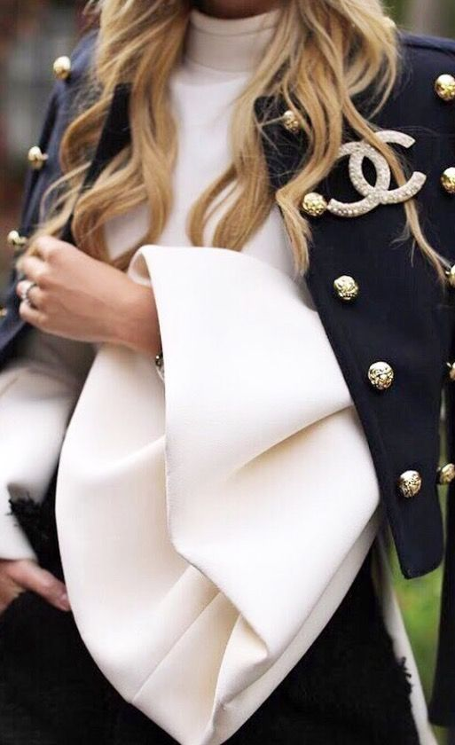 Chanel....okay....somehow some way THIS sleeve for my wedding gown....like this color as well!❤️