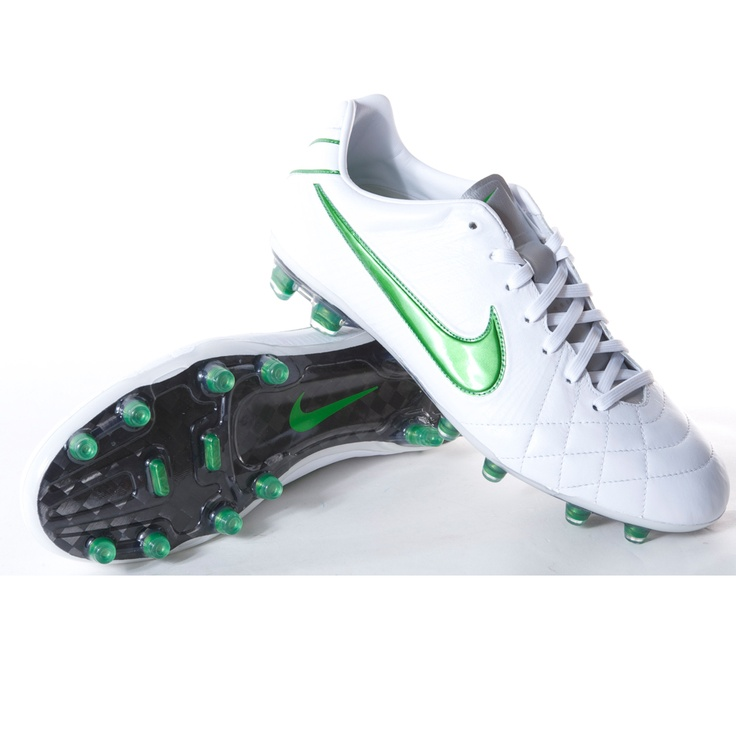 nike tiempo legend iv elite fg hvit grønn fotballsko