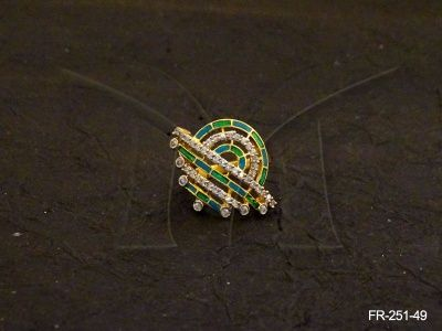 FR-251-49 || POLO ROUND BOWL AD FINGER RINGS