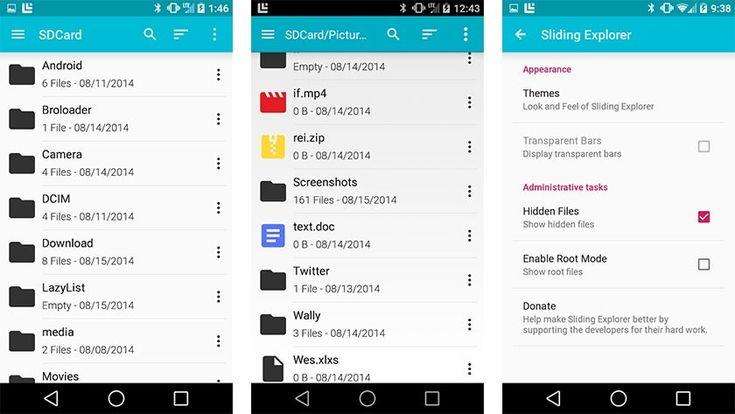 sliding explorer best file manager apps for android